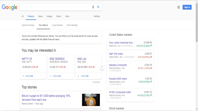 Google has a new site for tracking your investments