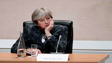 British PM Theresa May urges EU to move quickly on Brexit talks