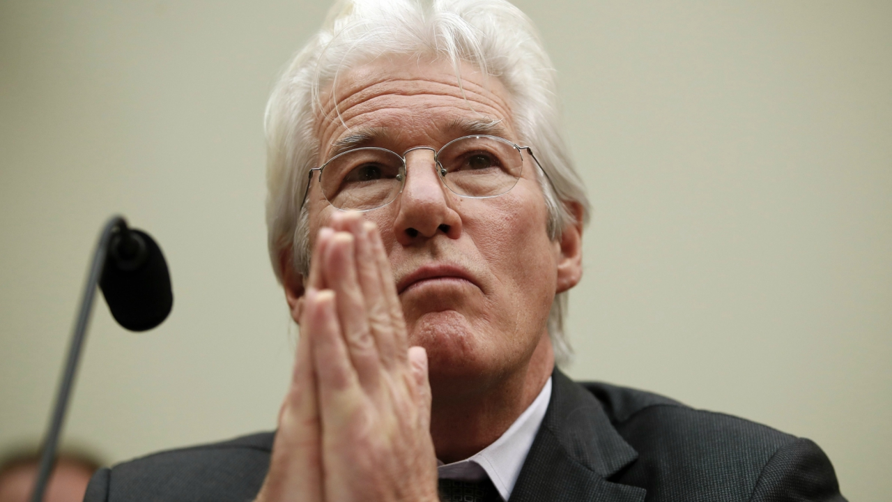 """Actor Richard Gere, chairman of the Board of Directors of the International Campaign for Tibet, pauses during a House Foreign Affairs, Asia and the Pacific Subcommittee hearing on Capitol Hill in Washington, Wednesday, Dec. 6, 2017, entitled """"US Policy Toward Tibet: Access, Religious Freedom, and Human Rights."""" (PTI)"""