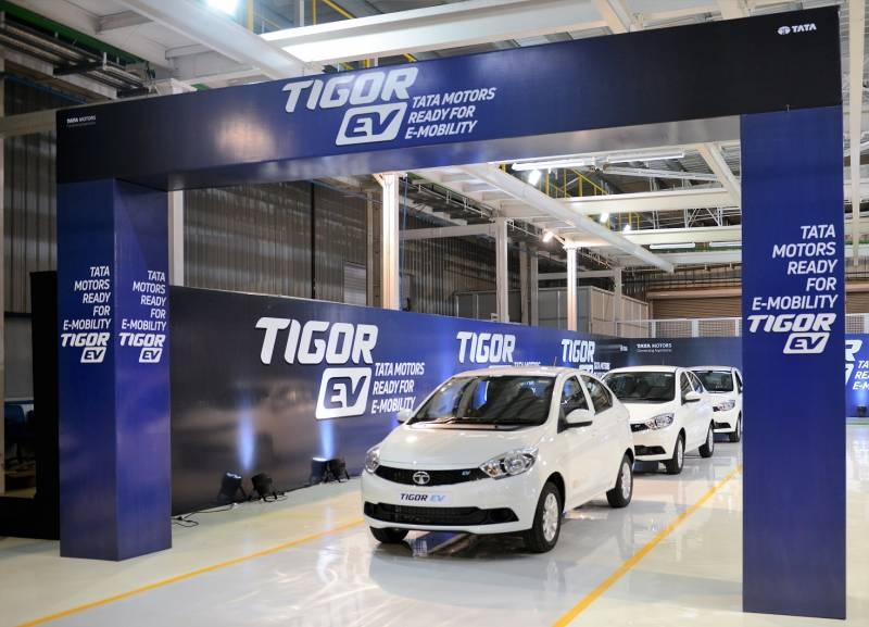 N Chandrasekaran flags off Tigor EVs from Sanand plant