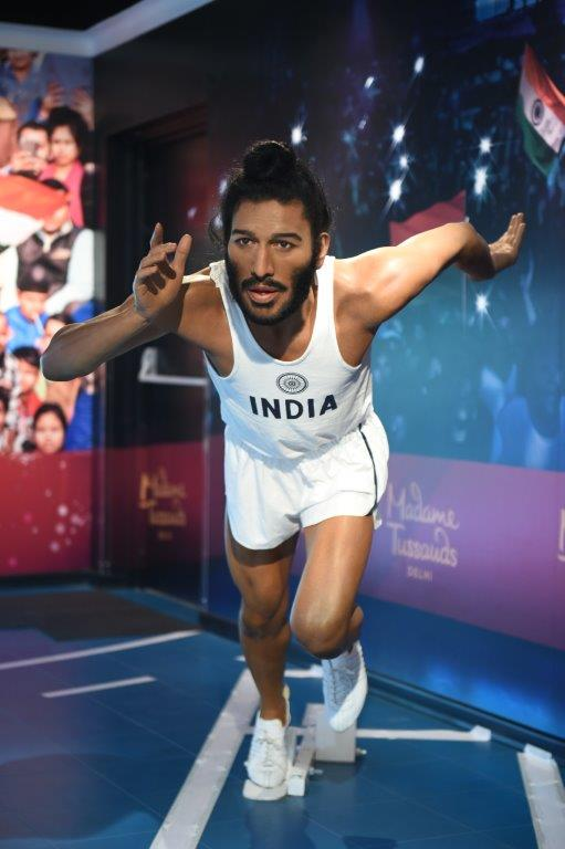 Bhaag Milkha Bhaag | The Flying Sikh Milkha Singh about to start a run. Located at Regal Cinema building in Connaught Place, the Madame Tussauds is the first brand by Merlin Entertainments to enter India. (Source: Madame Tussauds Delhi)