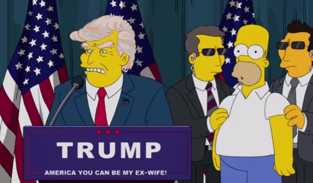 """Answer 15: Donald Trump. """"The Simpsons"""" released a video recently about Homer meeting the business magnate Donald Trump and spoof's his presidential campaign."""