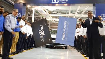 SLIDE SHOW: Tata Motors flags off Tigor EVs from Sanand plant