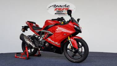 TVS launches Apache RR 310 at Rs 2.05 lakh, claims top speed of 160 kmph