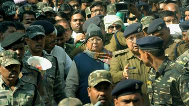"Row erupts over reports about presence of Lalu aides in jail to ""serve"" him"