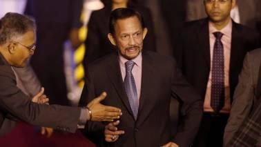 Sultan of Brunei Hassanal Bolkiah flies his own plane to New Delhi