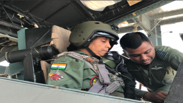 Defence Minister Sitharaman conducts sortie in Sukhoi-30 MKI fighter jet