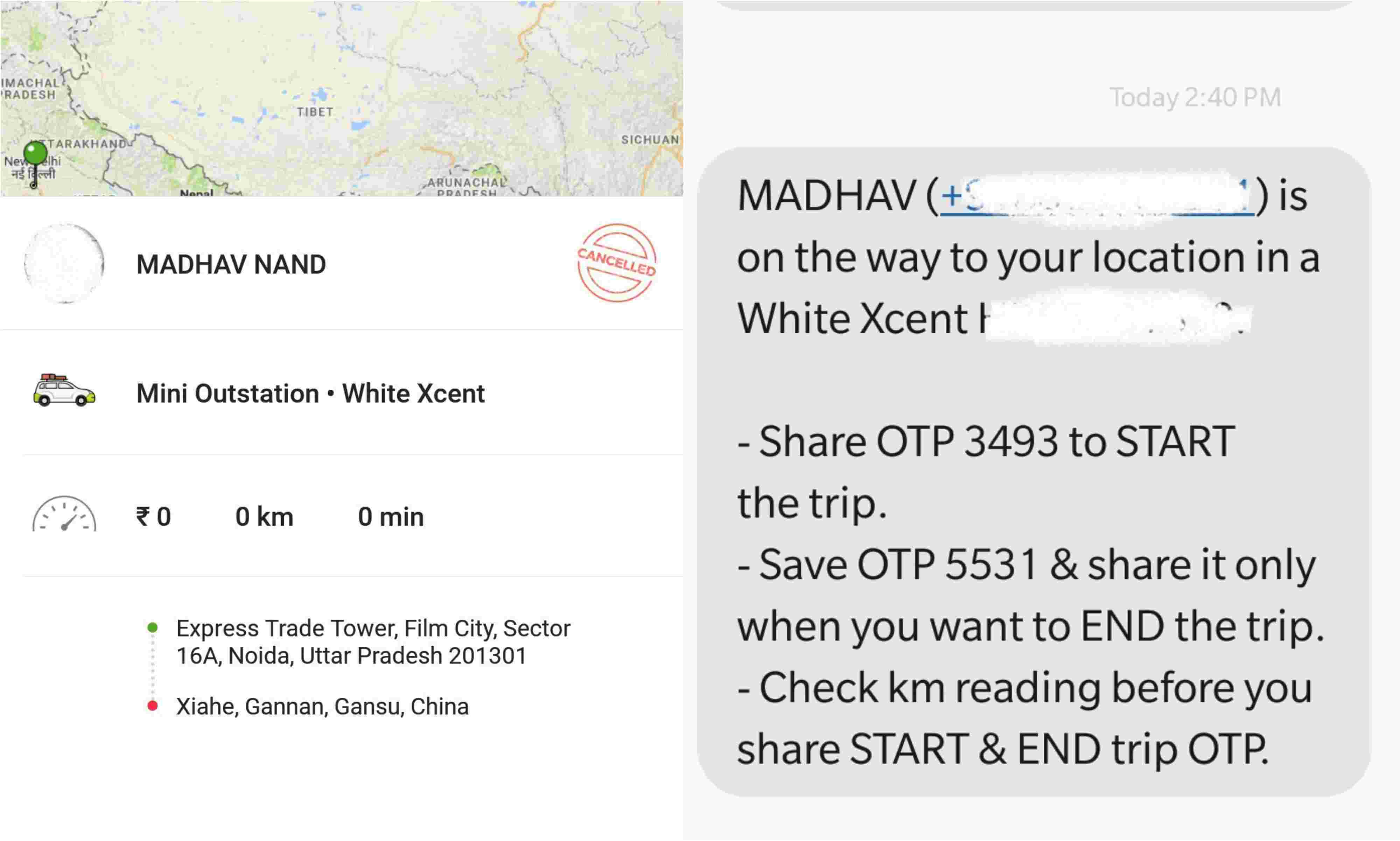 People are booking an Ola cab from India to North Korea, China & the US -  and their ride is on the way