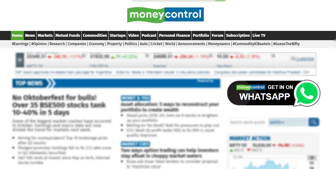 How to sign up for Moneycontrol alerts on WhatsApp
