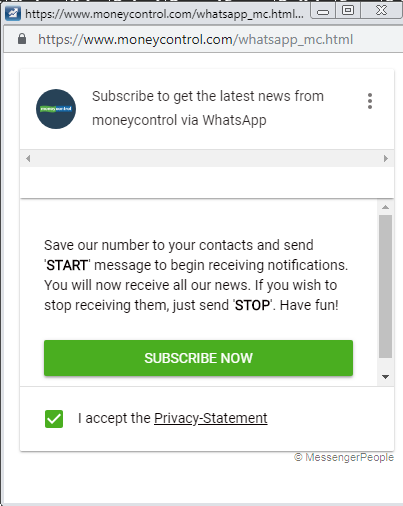 How to sign up for Moneycontrol alerts on WhatsApp - Moneycontrol com