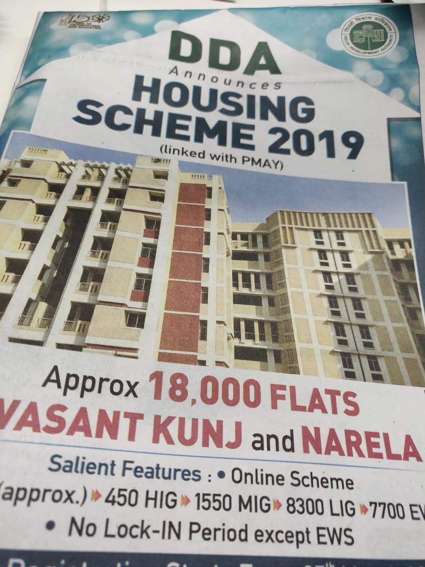 DDA Housing Scheme 2019 launched