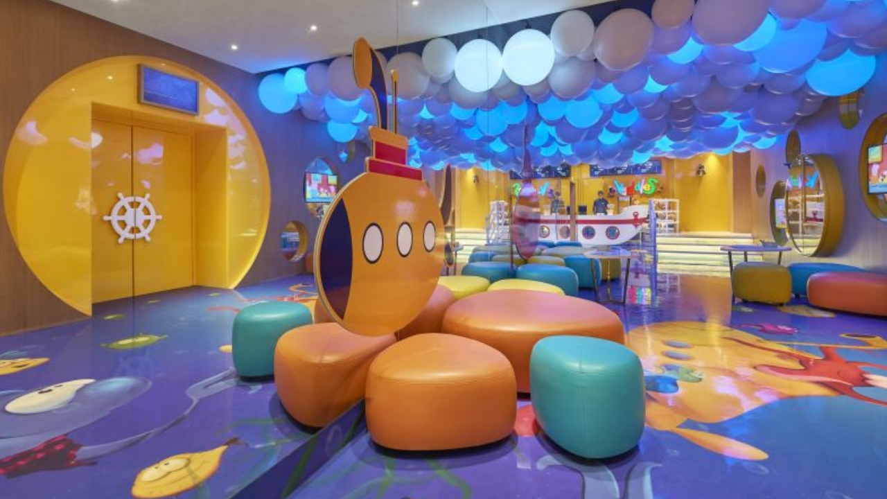 This is Kiddles, a format curated for children, and has bright and vibrant seating and interiors, along with a lobby, where kids can even rejoice and celebrate. Along with this, the megaplex also has ScreenX, the world's first multi-projection technology, offering a 270-degree panoramic viewing experience, with projection on three walls of the auditorium.