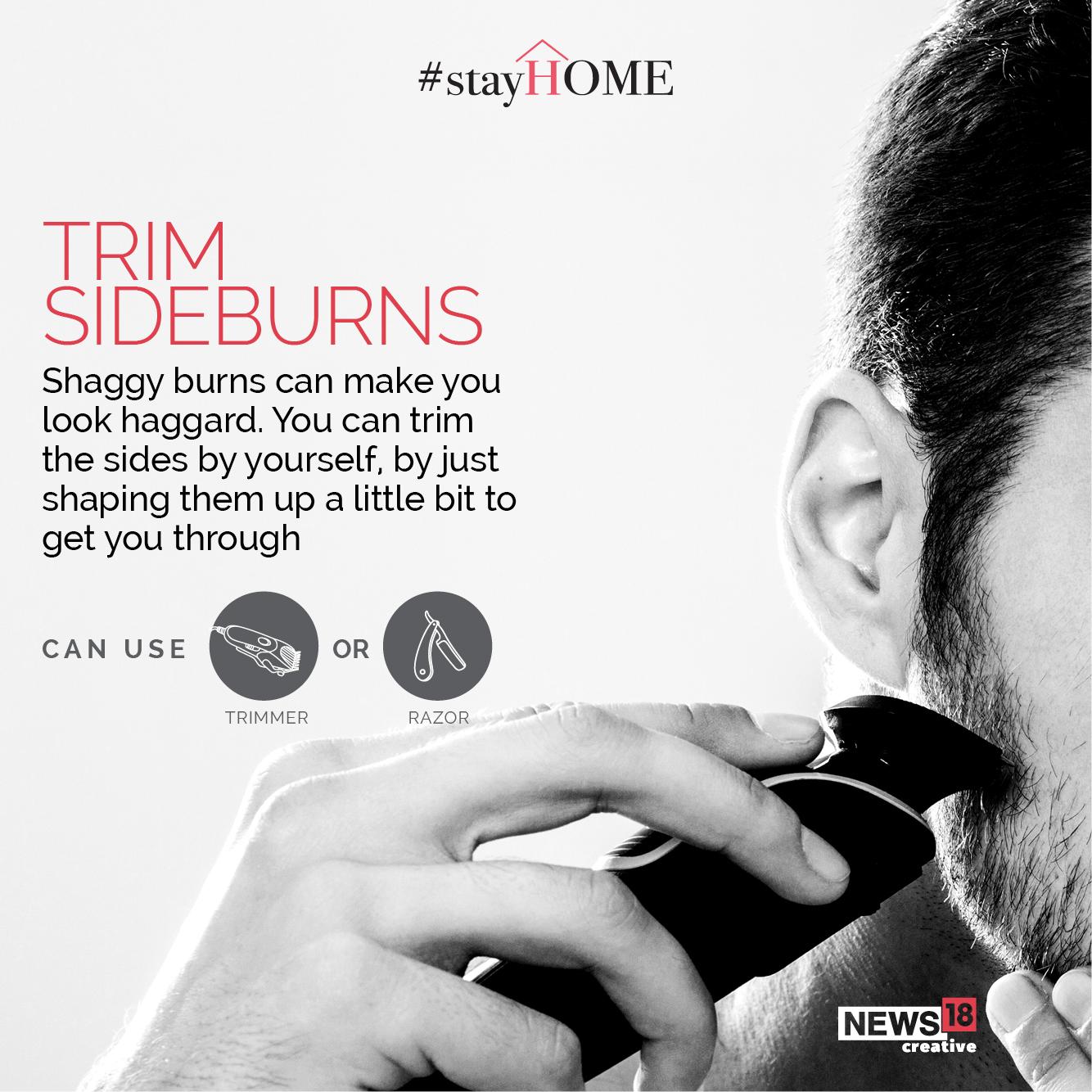 Tip 1 Trim Sideburns (Image: News18 Creative)