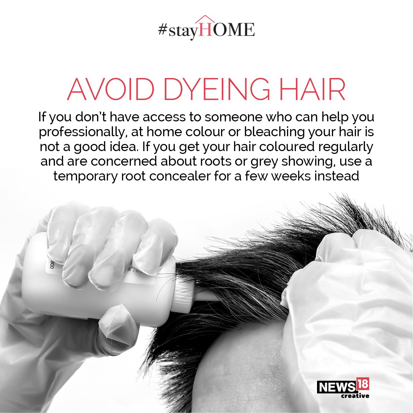 Tip 5 Avoid dyeing hair (Image: News18 Creative)