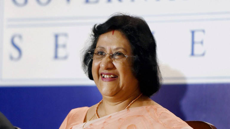 Outstanding Business Leader of the Year - Arundhati Bhattacharya. Arundhati Bhattacharya is first woman chief of India's largest bank State Bank of India. She joined SBI as a direct recruit officer in 1977 and has since held top positions such as MD, Deputy MD and CFO of the bank across her 36-year tenure. Her experience spans across verticals such as human resource, international banking, corporate credit and financial inclusion. At SBI, Bhattacharya set up SBI General Insurance, SBI Macquarie Infrastructure Fund and SBI SG Securities and also turned SBI into a technology friendly bank.