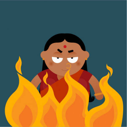 Holika was blessed with a boon that allowed her to enter fire and come out unharmed