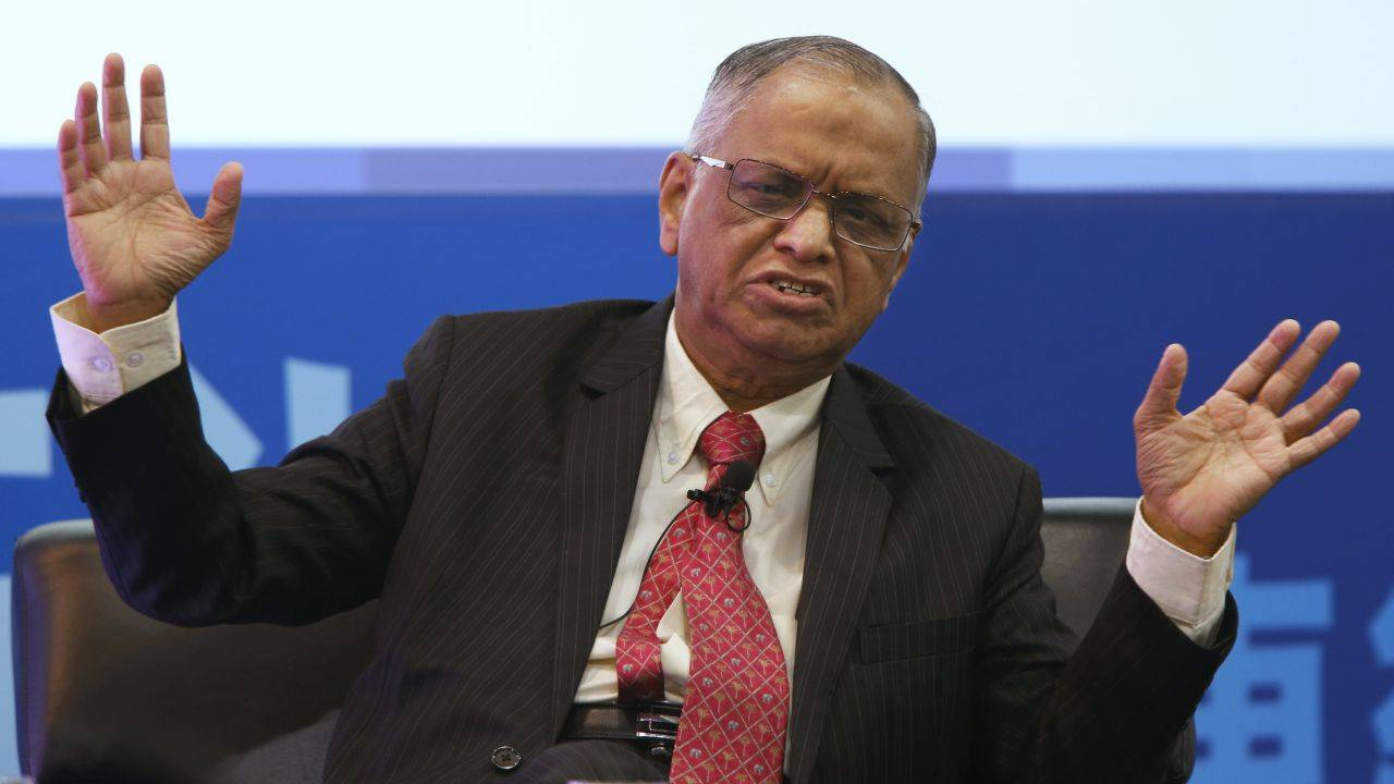 10.N R Narayan Murthy- Founder of Infosys, one of India's leading MNCs, in the year 1981. He holds an M.tech degree from IIT Kanpur. A Padma Vibhushan awardee, Murthy has been described as the 'Father of Indian IT sector' by Time magazine due to his contribution to outsourcing in India and is also listed among the top 12 greatest entrepreneurs of our time. (Image: Reuters)