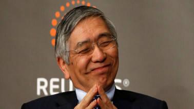 BOJ's Haruhiko Kuroda warns of trade perils, echoes Shinzo Abe on exiting easy policy