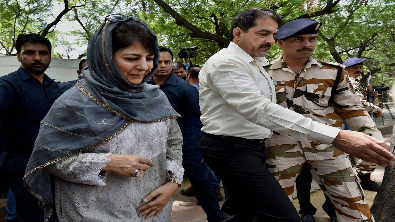 Mehbooba Mufti | Jammu and Kashmir | Total cases: 1 | Serious IPC: Nil