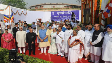 PM Narendra Modi pays tributes to Ambedkar on 126th birth anniversary