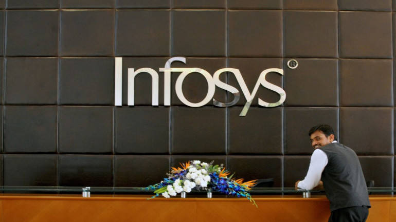 Infosys shares down in early trade