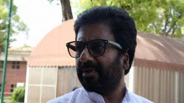 Sena MP Ravindra Gaikwad in Mumbai, meets Uddhav Thackeray