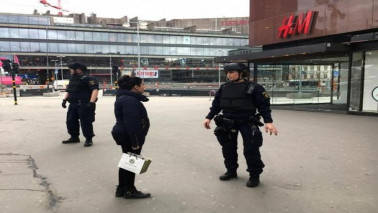 Four dead in Sweden truck attack, driver at large