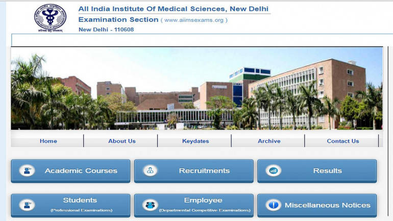 AIIMS MBBS Result 2017 declared