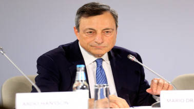 Euro zone growth slowdown normal and in part temporary: Mario Draghi