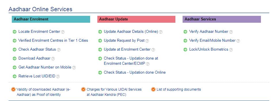 aadhaar enrolment centre near me