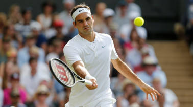 King of aces: Tennis legend Roger Federer hits a new milestone