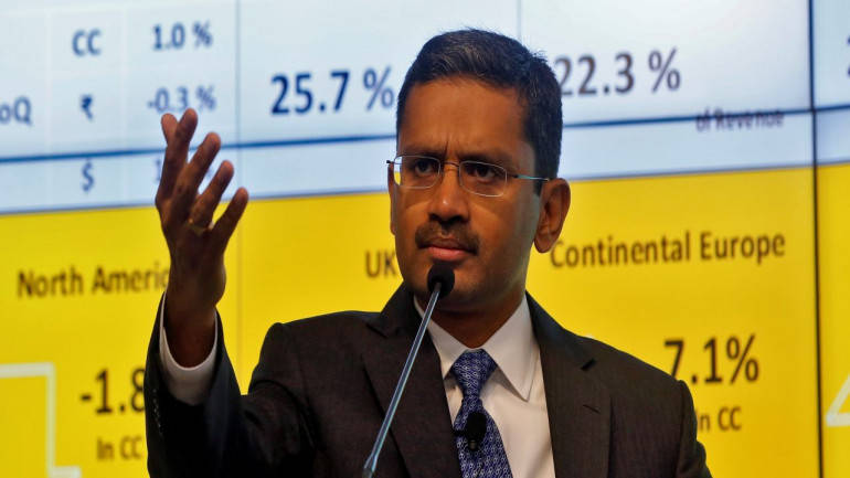 TCS falls on profit booking