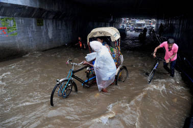 Local trains in Mumbai grind to a halt after prolonged downpour