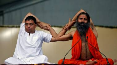 Baba Ramdev and yoga enthusiasts set a new Guinness World Record