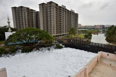 Toxic froth from Bangalore lake recedes, rain-hit areas recovering