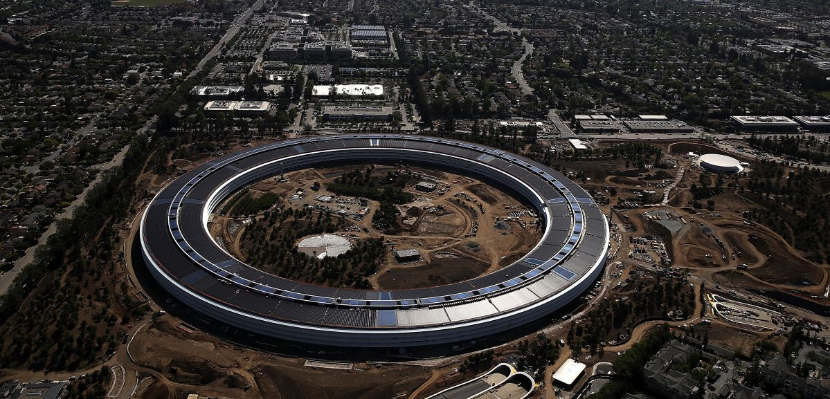 apple new office. The Steve Jobs Theatre, Where Apple Event Was Held, And Visitor\u0027s Center Housing An Store, Cafe Rooftop Observation Is Complete. New Office A