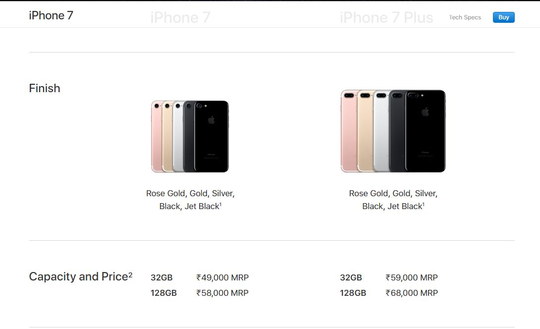 Apple Slashes Price Of Iphone 7 Iphone 7 Plus Iphone 6s In India