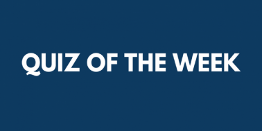 Test your knowledge — Quiz of the Week