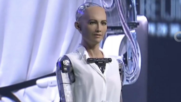 Artificial intelligence robot Sophie