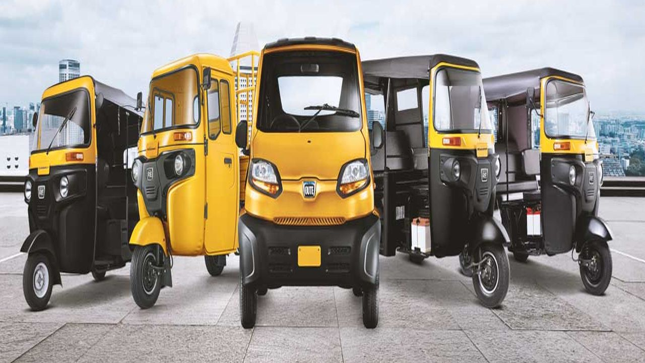 2019   Bajaj Three-wheeler   Indian auto giant Bajaj Auto will launch an electric three-wheeler next year. The company is already the market leader in petrol powered three wheelers. It may also launch an electric Qute later in the year. The Qute is already on sale in a few states (Image: Bajaj Auto).