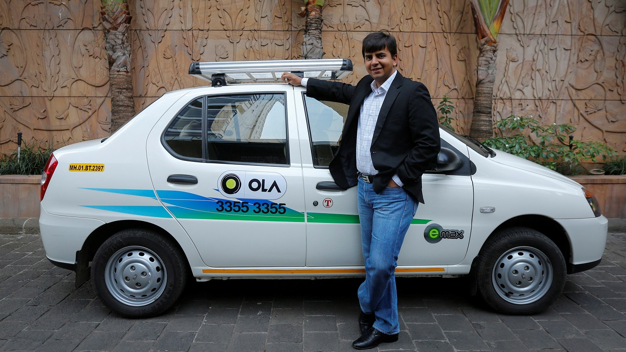 Q4. Founded by alumni of IIM-Ahmedabad Raghunandan G and Aprameya Radhakrishnan, they started the initiative of providing radio taxi on demand to solve point to point travel problem. This segment was earlier held by auto rickshaw and rickshaw, etc. What is the name of the company which was later acquired by Ola?