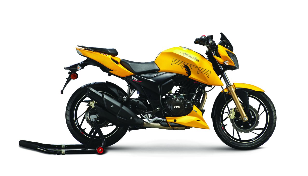 This new variant of the Apache is equipped with electronic fuel injection and is priced at Rs 107,005