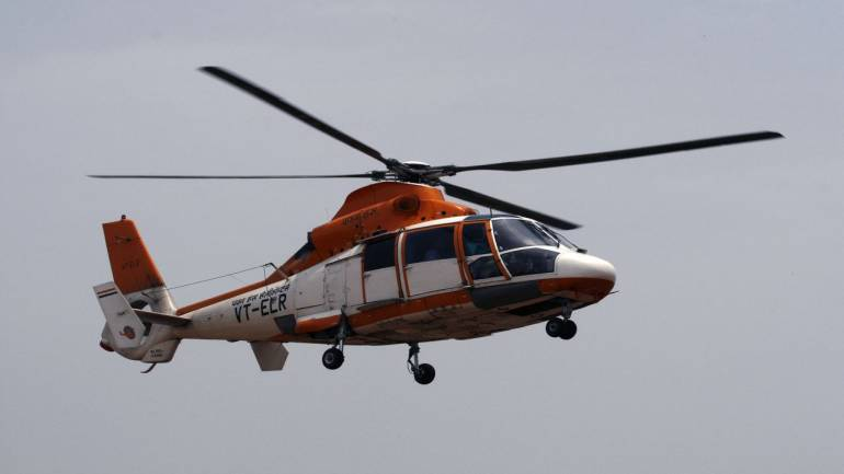 Chopper with eight on board goes missing off Mumbai coast
