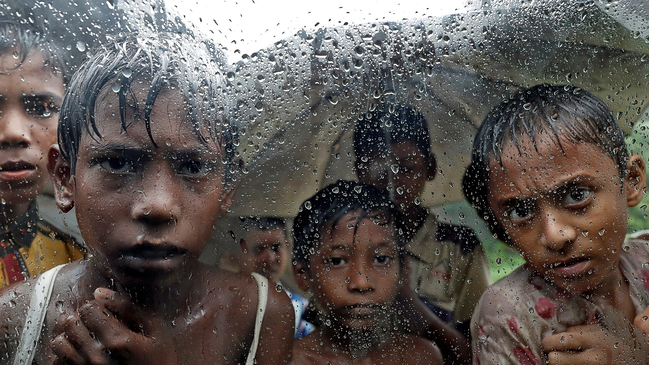 Rohingya refugee children pictured in a camp in Cox's Bazar, Bangladesh on September 19, 2017. (Reuters)