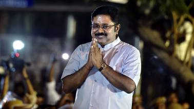 TTV Dhinakaran names new party after Jayalalitha, unveils party flag