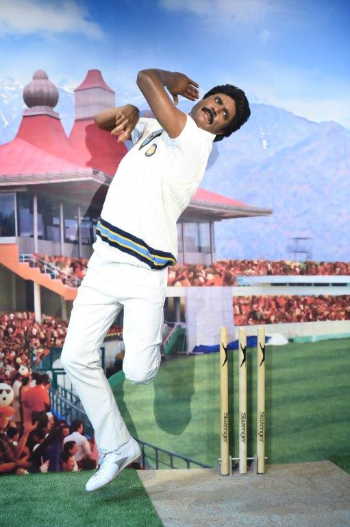 The Haryana Hurricane | The cricketer who captained India to their first World Cup glory in 1983, Kapil Dev in his run up to bowl. All the wax figures have been created in London at Madame Tussauds studio 'Merlin Magic Making'. (Source: Madame Tussauds Delhi)