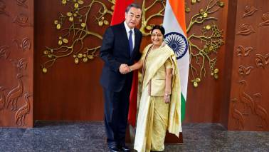 Sushma Swaraj arrives in China for talks with Wang, SCO meet