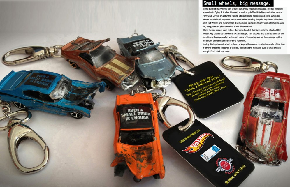 Answer 6: Don't drink & drive key chains from Hot Wheels