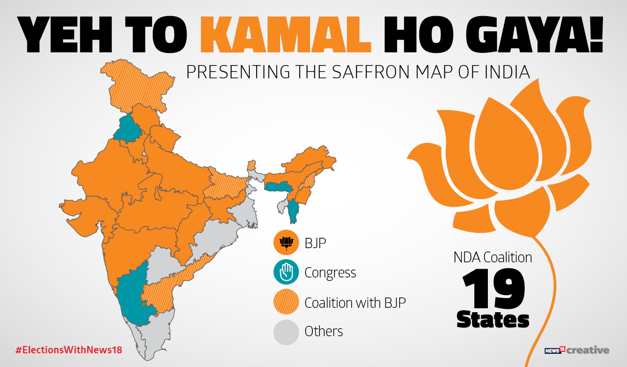 The saffron map of India