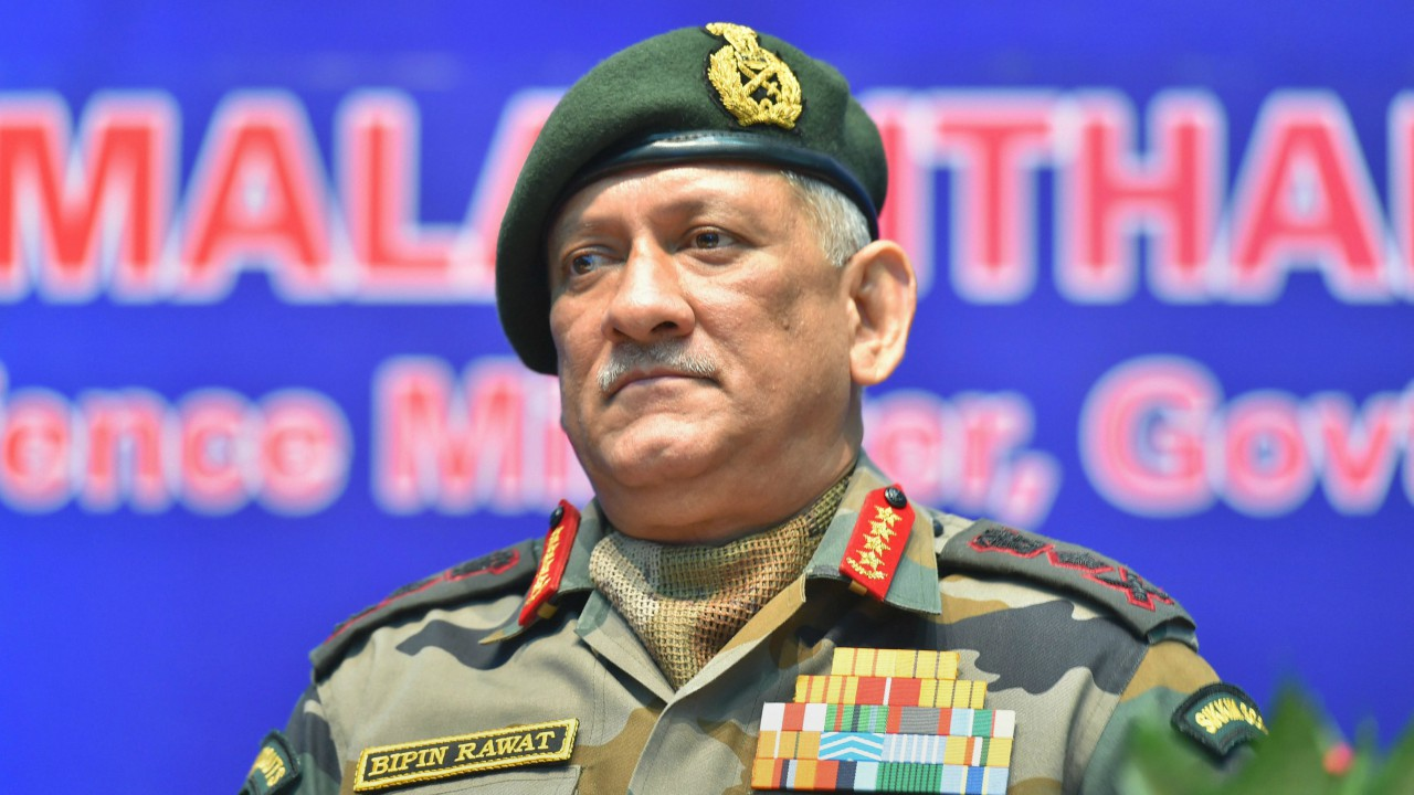 Army chief General Bipin Rawat at the inauguration of Defence Research and Development Organisation (DRDO) workshop, in New Delhi. (PTI)